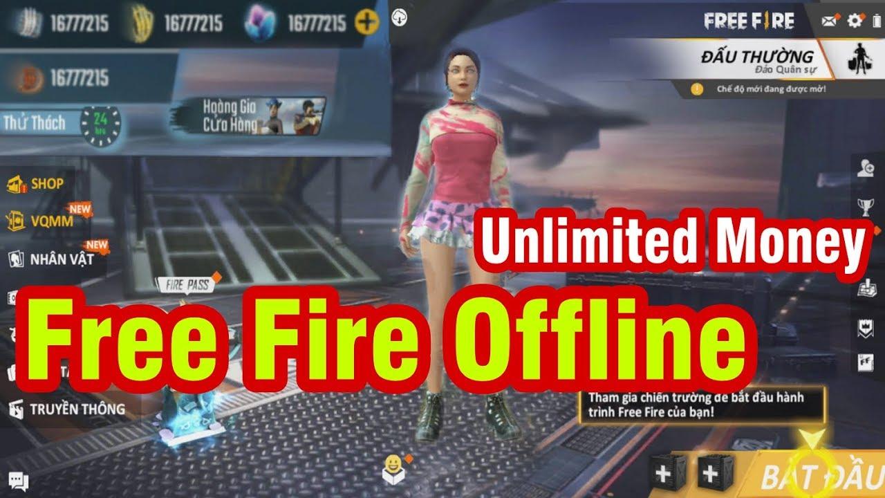 Free Fire Offline Mode bản MOD chơi không cần Mạng & Full tiền , Kim cương cho Android
