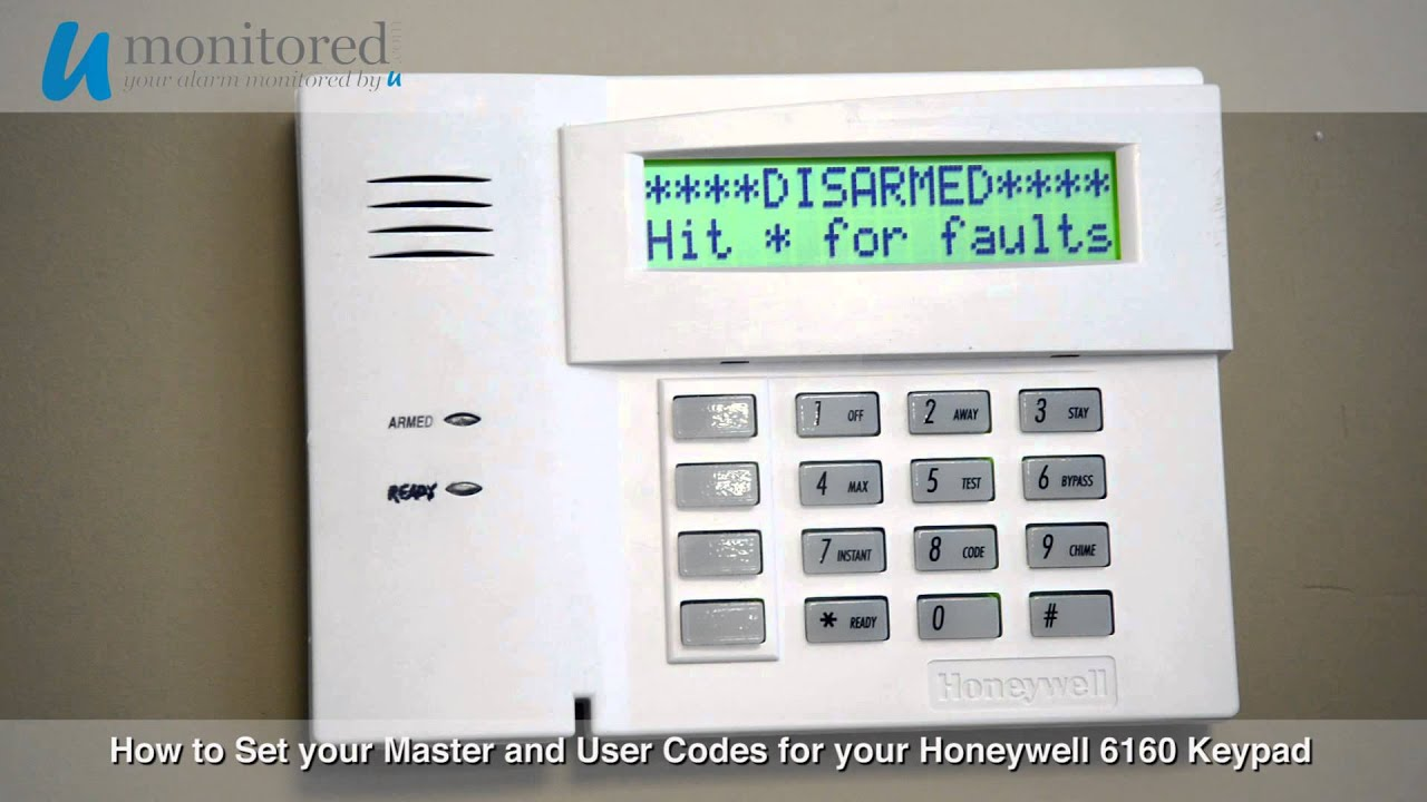 how to set the master and user codes on your honeywell 6160 alarm rh youtube com honeywell 6160 installation manual honeywell 6160 user manual pdf