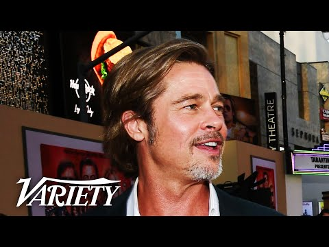 Brad Pitt Talks Retiring at 'Once Upon a Time in Hollywood' Premiere