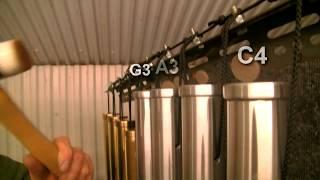 "Bass chimes / tubular bells in 2"" Aluminium by Matt Nolan"