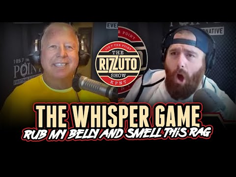 WHISPER GAME with STL Paw Paw: Rub my belly and smell this rag! [Rizzuto Show]