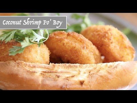 Coconut Shrimp Po' Boy