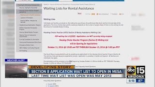 Pre-application for section 8 housing in Mesa to open soon