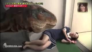 pegadinha do dinossauro no escritorio (dinosaur prank)