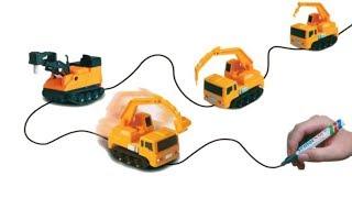 Машинка  ездит по дороге начерченной маркером - Magic Toy Truck. ZTD#301