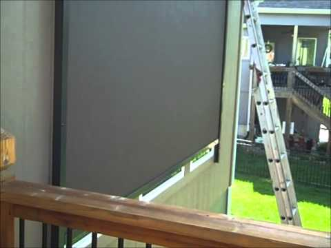 Motorized Exterior Sun Shade - YouTube