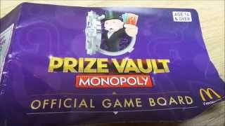 SWAP HERE LATEST OFFICIAL GAME BOARD FOR UK MCDONALDS MONOPOLY PRIZE VAULT 2014