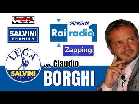 🔴 On. Claudio Borghi - Intervista a Zapping - 28/03/2018