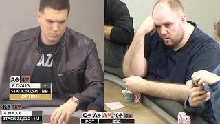 Doug Polk Goes for Huge Value! 2x Overbet!! ♠ Live at the Bike!