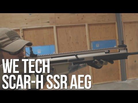 WE Tech FN SCAR-H SSR AEG Rifle Tan - AirSplat On Demand