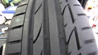 タイヤマンTAIRA ポテンザS001 回転状態確認 バランス計測準備