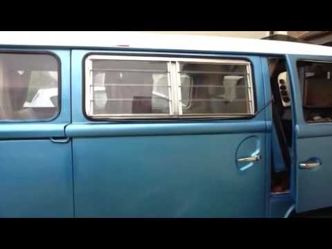 Vw T2 Jalousi Louvre Window Fitting On Panel Van Sliding