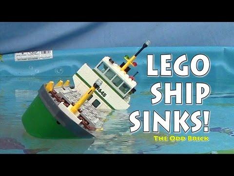 LEGO Cargo Ship Sinks!