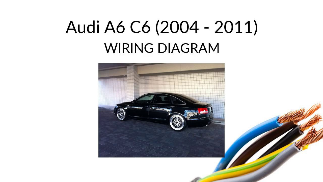 Audi A6 C6 - wiring diagram - YouTube | Audi A6 Stereo Wiring Harness |  | YouTube