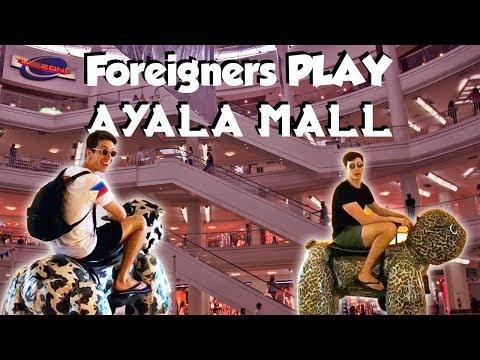 Filipino Malls REACTION (Ayala Mall Arcade & Filipino Food) - Philippines Travel Vlog