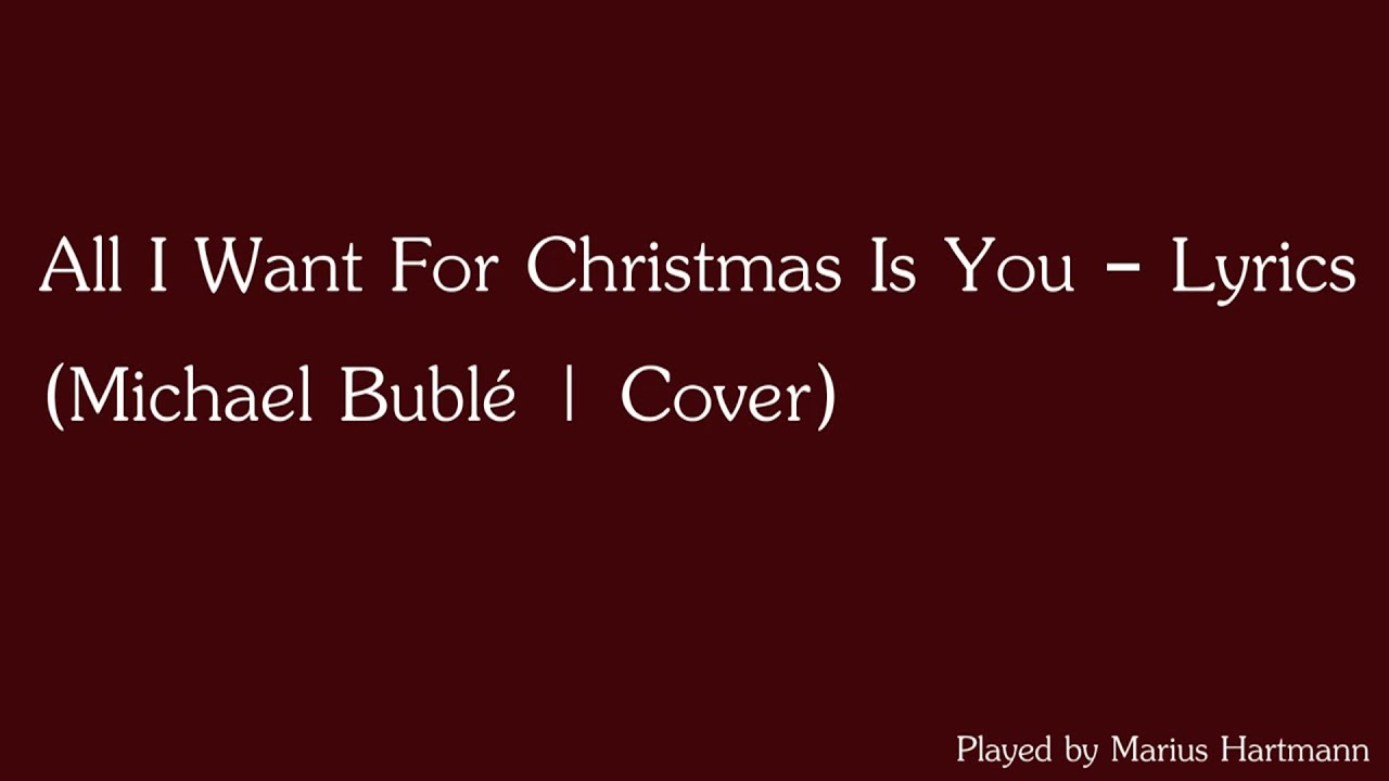 All I Want For Christmas Is You - Instrumental with Lyrics (By Mr ...