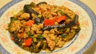 Eggplants with chili bean sauce 燒茄子