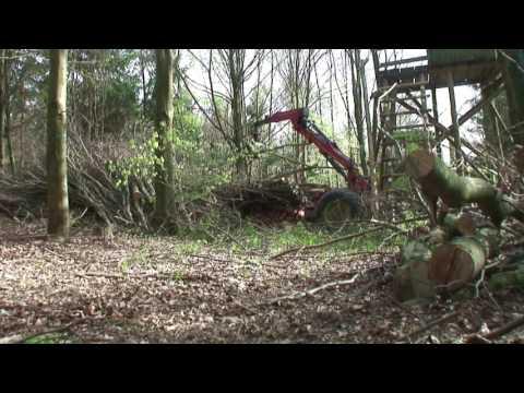 WF Trac 1500 Weimer RDM12 beim Energieholz bergen im Buchenwald