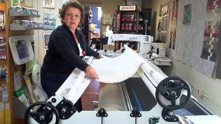 how to load a quilt on your handiquilter with quil