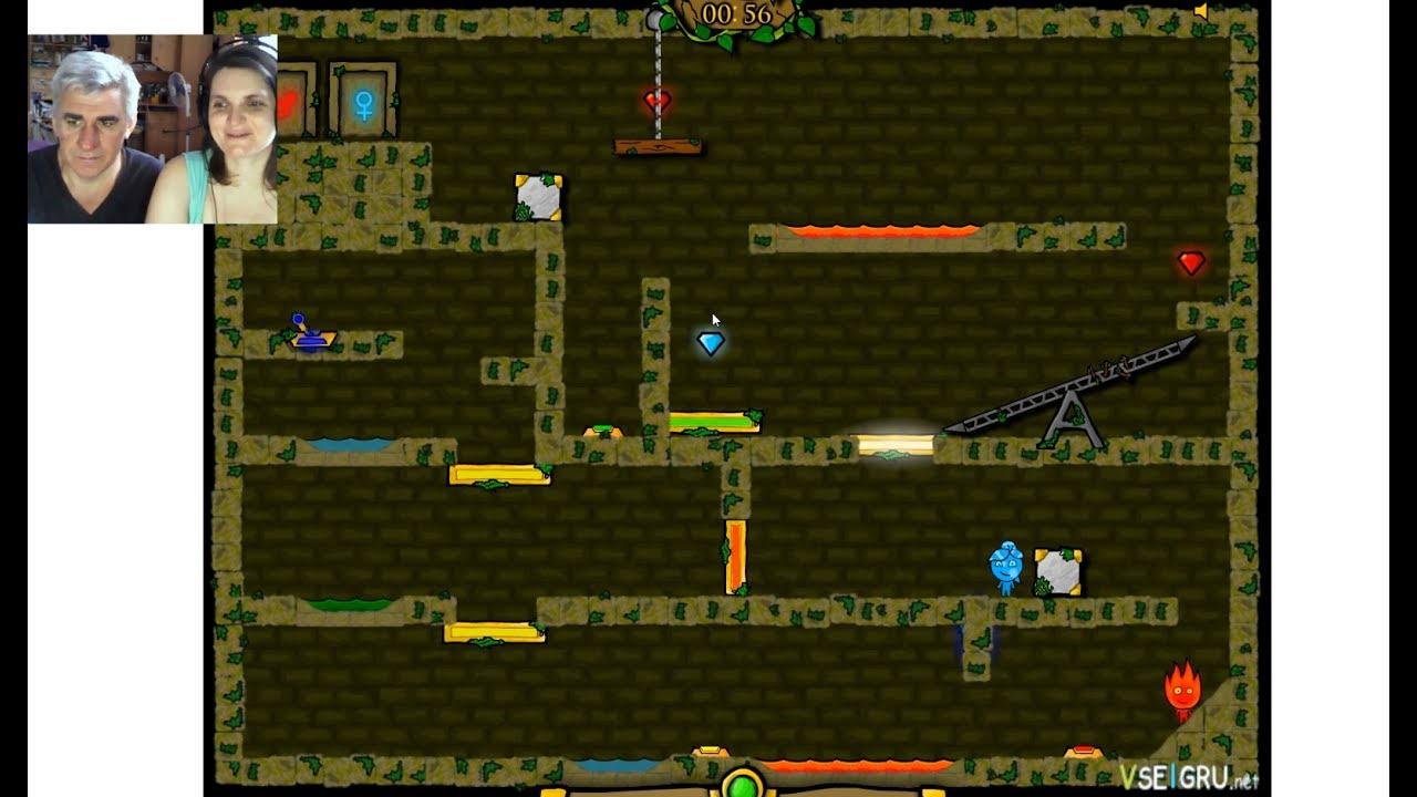 Огонь и вода в Лесном Храме 3. Играем онлайн с Костей ...