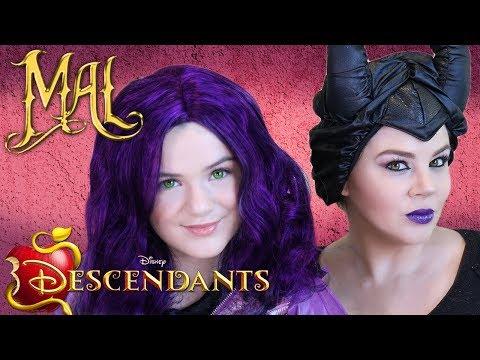 🍎 Descendants Mal & Maleficent Makeup Tutorial! 💄 Makeup, Costume, Wigs! DIY