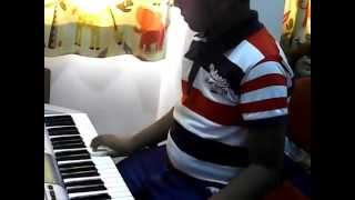 telugu song dil se dil se from gabbar singh on keyboard by t.saketh
