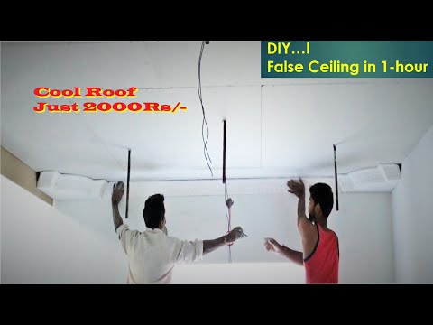 Step by Step - Grand Look & Cheap False Ceiling - Cool Roof Cost Just 2000/-rs