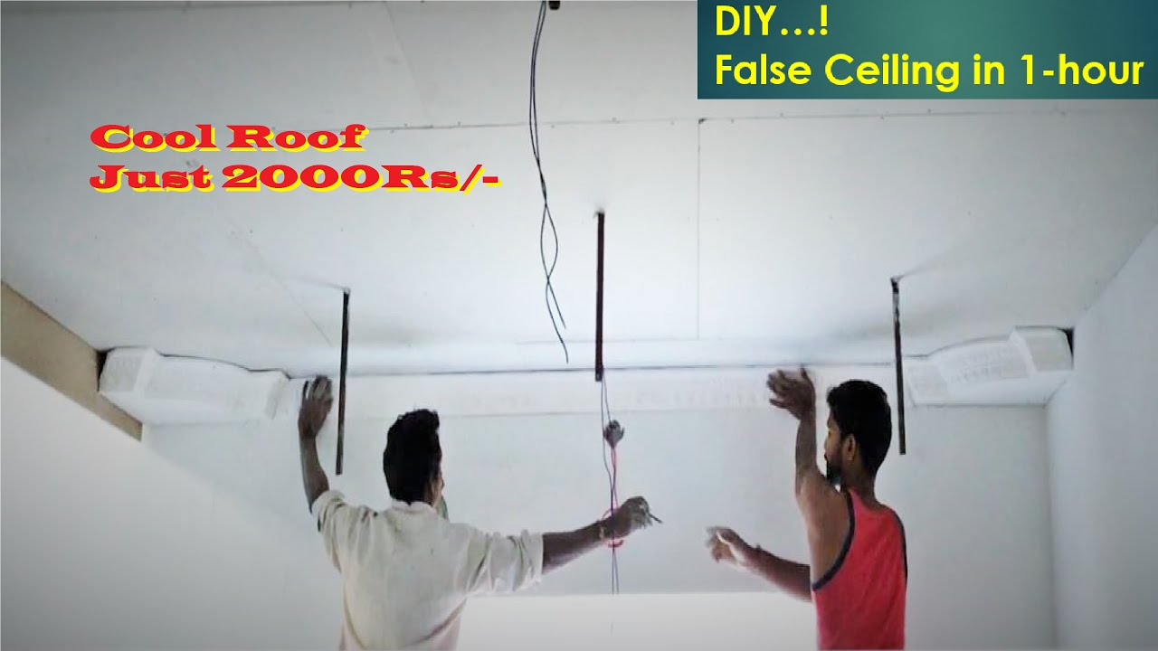 Grand Look & Cheap False Ceiling & Cool Roof False ceiling and Cool Roof  Cost Just 2000/-rs