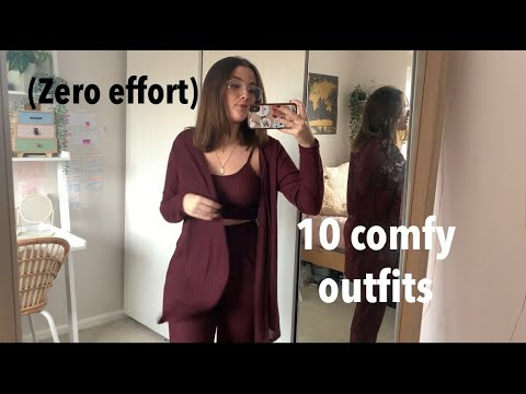 10 CUTE LAZY AND COMFY OUTFITS| cute but zero effort