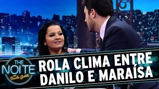 The Noite (24/03/16) - Rola clima entre Danilo e Maraísa s2