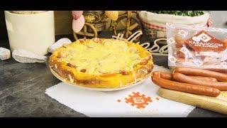 Рецепт пиццы с маринованными огурцами и колбасой - Брестский мясокомбинат