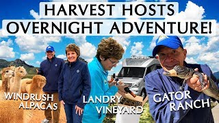 Sick of Crowded Campgrounds? Try A Harvest Hosts Tour!