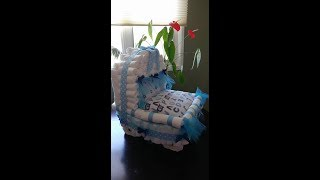 Diaper Cake Carriage (Baby Boy) Shower