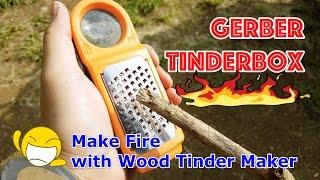 베어그릴스 거버 톱밥 만들어서 불 만드는 도구 Gerber Tinderbox Review