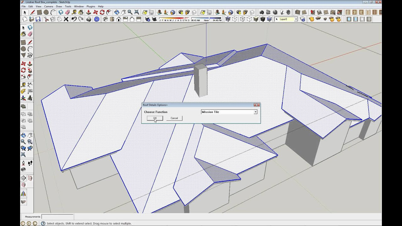 Sketchup Instant Roof Creation Plugin Youtube