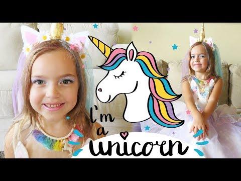 Unicorn Costume With Unicorn Hair, Makeup & Jewelry | Crazy8Family