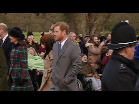 Raw: British Royals Attend Christmas Service
