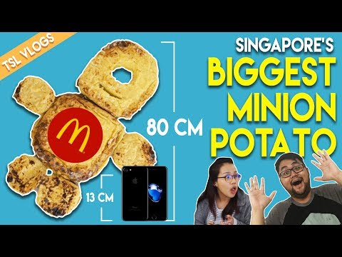 SINGAPORE'S BIGGEST MCDONALD'S MINION POTATO | TSL Vlogs
