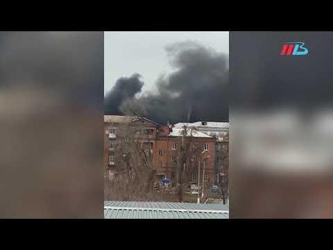 Пожар в поселке Нижние Баррикады