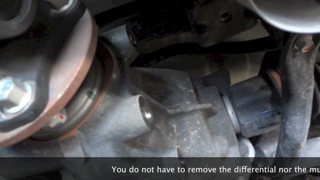 Ralliart Differential Positive Power Bushing Install