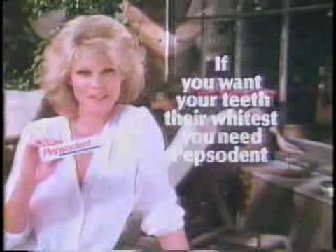 Cathy Lee Crosby 1981 Pepsodent Toothpaste Commercial