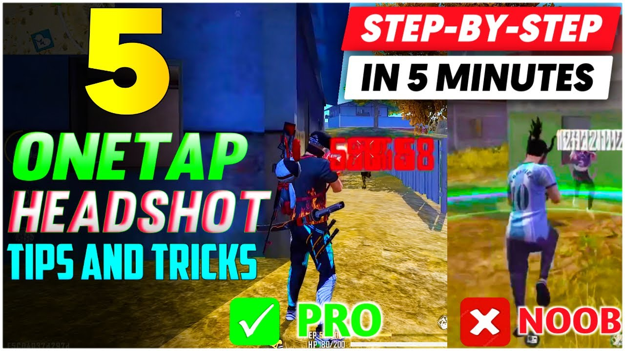 Download TOP 5 ONE TAP HEADSHOT TIPS AND TRICKS IN FREE FIRE 🔥| ULTRA FAST ONE TAP HEADSHOT TRICK