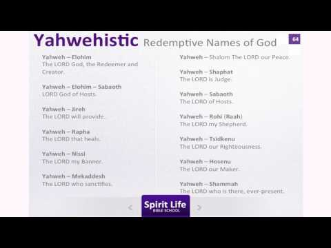 The Doctrine of God Part 5 The Names of God