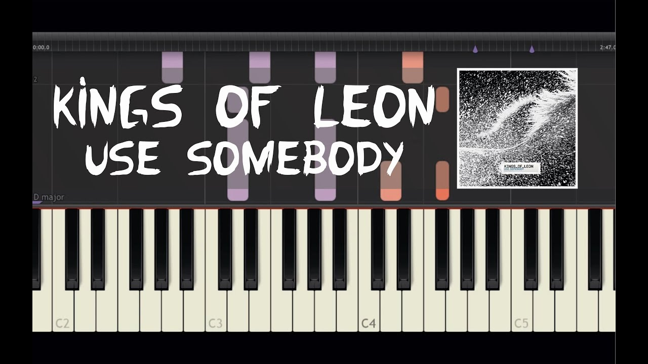 Kings of Leon - Use Somebody - Piano Tutorial by Amadeus (Synthesia)