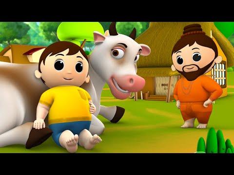 Gentleman's Honest Cow Story - पुण्यकोटी ईमानदार गाय हिन्दी कहानी 3D Animated Kids Moral Stories