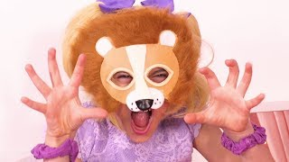 Magic Animal Masks 🐷 Princesses In Real Life | Kiddyzuzaa