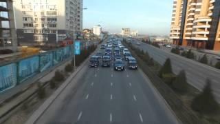 Аэросьемка Rolls-Royce Phantom в Шымкенте