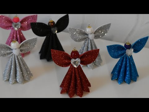 Ангел из фоамирана на Новогоднюю Елку./ DIY Christmas Angel