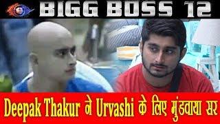 Deepak thakur ने  Urvashi के लिए  मुंडवाया सर  | Latest Bollywood news | IP News |