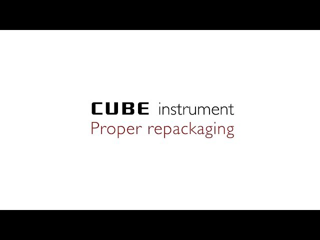 Proper repackaging of an instrument of the Eurolyser CUBE series